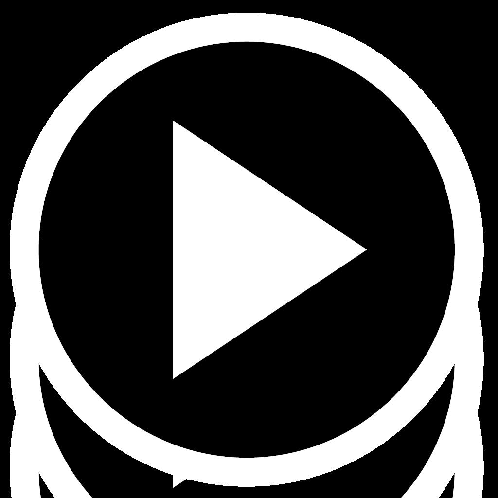 play button transparent